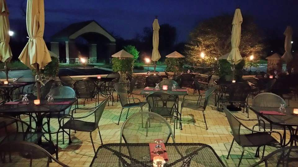 ClayOven Patio Night Time